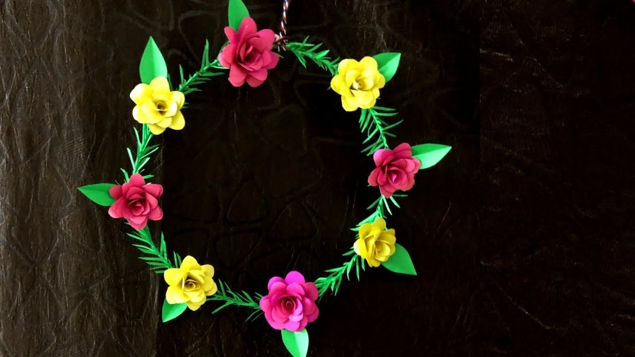 How To Make Craft With Paper : Wall Hanging diy craft