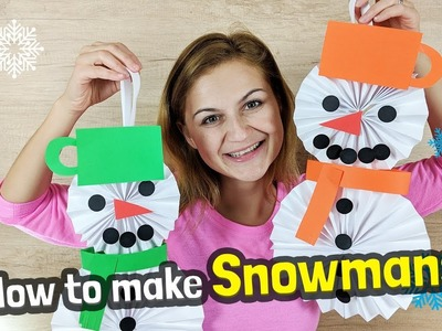 How to make Easy Paper Snowman Craft