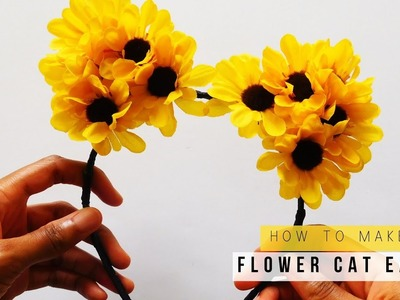 How To Make Flower Cat Ears | DIY Halloween Costume