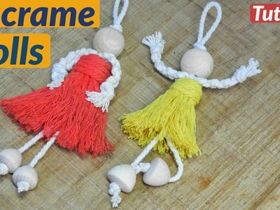How to Make Macrame Doll tutorial | Craft for Kids