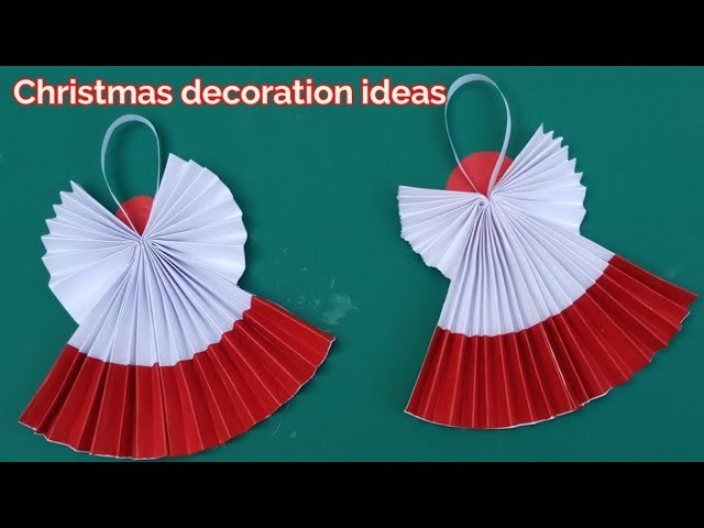 How to make paper Angel,Christmas decoration craft ideas Handmade,