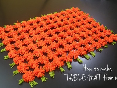 How to Make Table Mat | Wool Craft Ideas | Wool Design