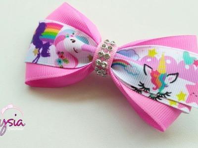 Laço Liza Fita N5 ???? Ribbon Bow Tutorial ???? DIY by Elysia Handmade