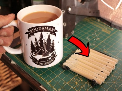 Make DIY Drink Coasters from a Stick - Bushcraft Style (Tutorial)