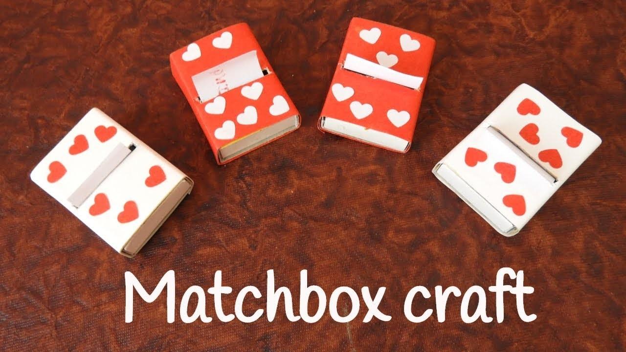 Matchbox Notebook Best Out Of Waste Matchbox Craft Ideas Matchbox