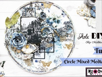 Mixed Media Circle Shaped Layout | Easy to follow tutorial | Aola DIY | My Creative Scrapbook Kit