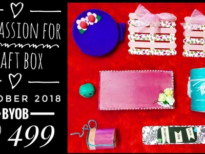My Passion for Craft box October 2018 |BYOB  @ 499 |Free shipping |Unboxing and Review