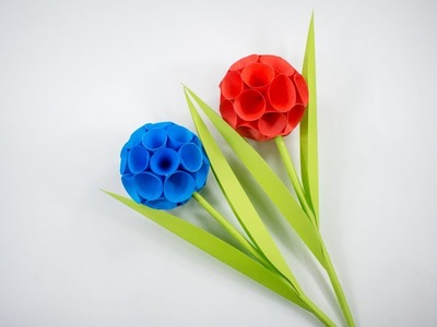 Paper Flower Stick - Paper Flower - Tutorial - DIY
