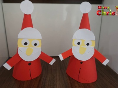 Paper Santa Craft for kids || Christmas tree decoration || Easy and quick