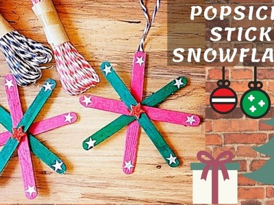 Popsicle Stick Snowflakes Instructions | Christmas Craft Making Ideas