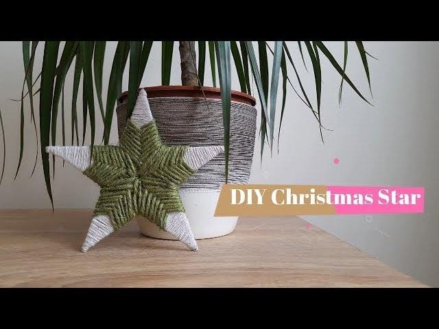 Rope Craft Star | DIY Easy Christmas Decoration, Rope Decor Ideas #DIY