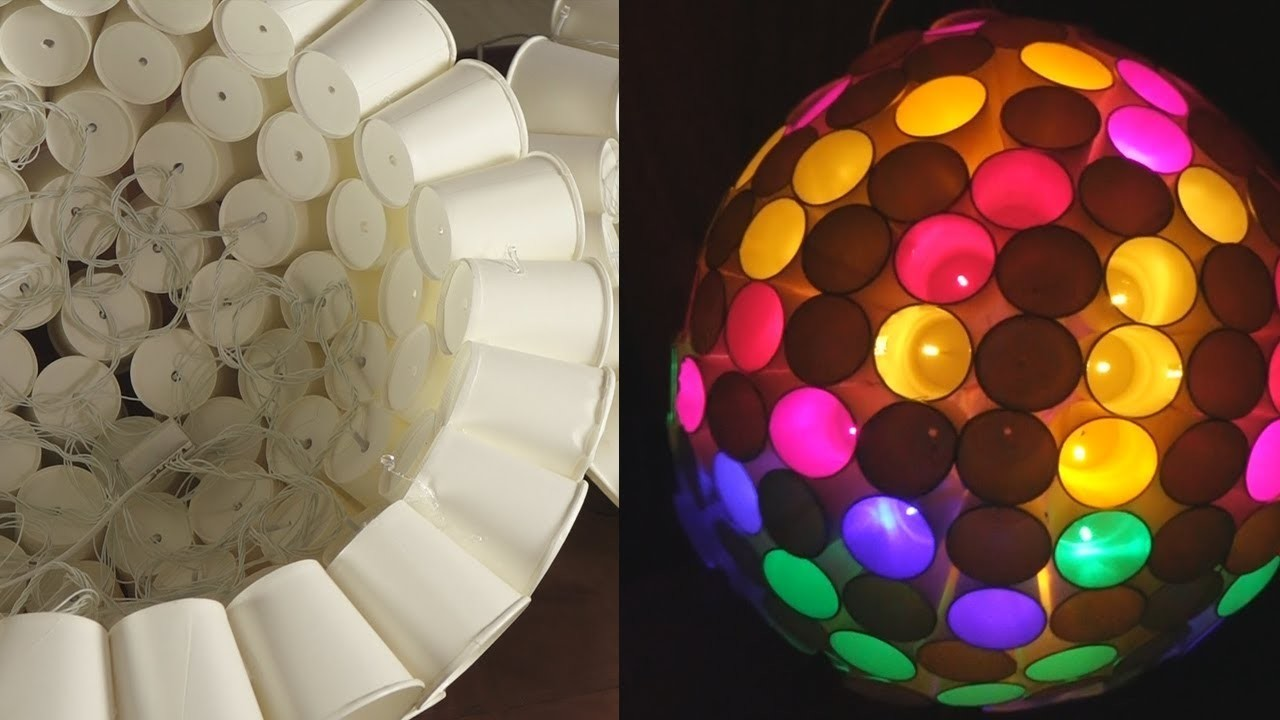 Simple Paper Cup Craft Ideas Home Decoration Light With Paper Cups