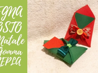"Tutorial: Segnaposti ""Lettera"" Natalizi in Gomma Crepla (ENG SUBS - DIY fommy Christmas place card)"