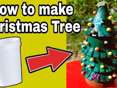 VERY EASY !!! How to make a Christmas Tree | Xmas Tree Craft Tutorial