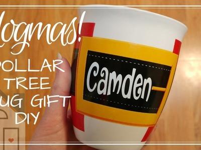 VLOGMAS: Craftmas | Dollar Tree Gift | Vinyl Mug Craft | Silhouette Gift Ideas