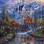 Autumn Mist Castle Cross Stitch Pattern***LOOK***