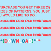CRAFTS Autumn Mist Castle Cross Stitch Pattern***LOOK***