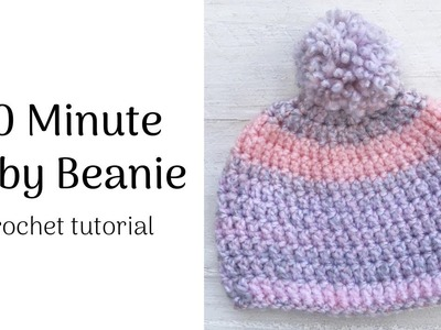 Baby Beanie Hat Crochet Tutorial | Crochet Hat | Crochet Beanie | Crochet for Beginners
