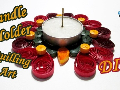 Candle Holder DIY Quilling Paper Art 2019