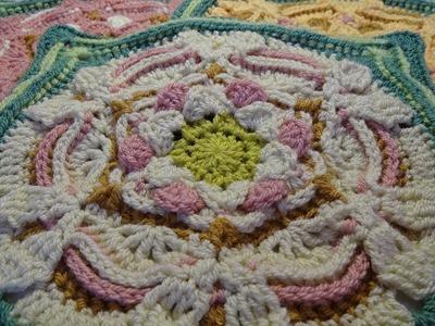 Crochet Blanket - The Secret Garden - Part 6 - Roses