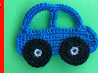 Crochet Car Tutorial - Beginner Crochet Tutorial
