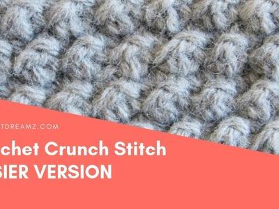 Crochet Crunch Stitch, Easy Version