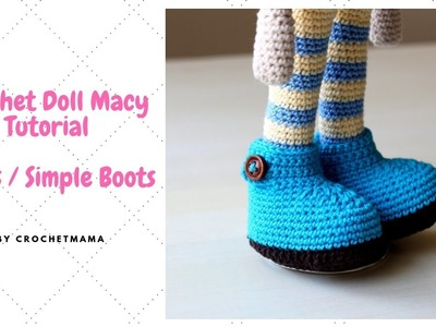 Crochet Doll Shoes. Booties for my Doll Macy
