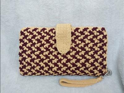 Crochet Motif melati 2 warna full