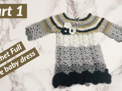 Crochet round neck toddler frock PART 1 - English version