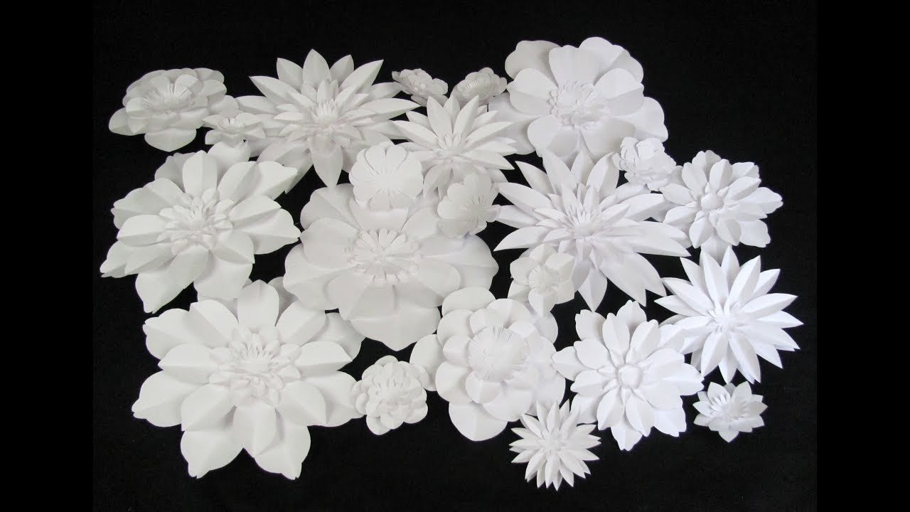 Diy Dahlia Tutorial Large Size Paper Flower Wedding Backdrop
