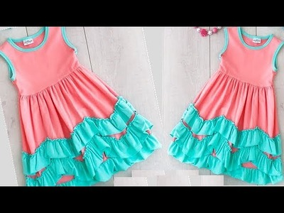 DIY Designer Ruffled Baby Frock Cutting And Stitching Full Tutorial