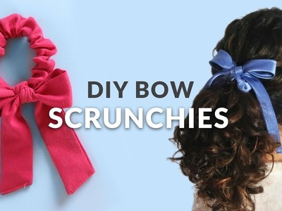 DIY Draped Bow Scrunchies - inspired by Urban Outfiters | Curly Made
