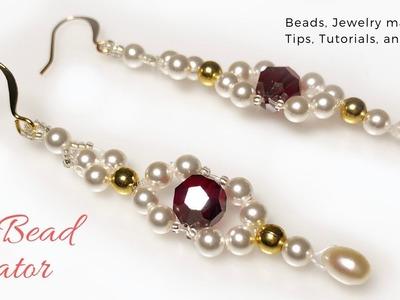 DIY Earrings, How to make Pearl Earrings, Beads Tutorial