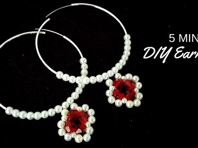 DIY earrings in 5 minutes. Easy , cheap, fast.  Hoop earrings tutorial