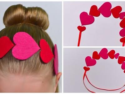 """DIY Headband """"Hearts"""" ???? Valentine's Day ???? Hand Made"""