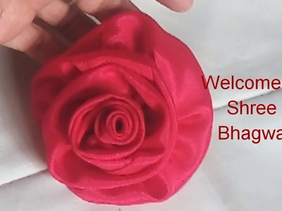 Diy Rose flower ll fabric flower