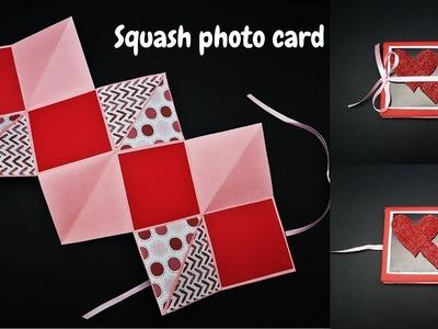 DIY Squash Card Tutorial ( Photo Card ) | How to make Squash Card for Scrapbook