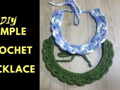 DIY T Shirt Yarn Crochet Necklace | Beginner Friendly | Zimbabwean Youtuber  #tsungie #crocheting