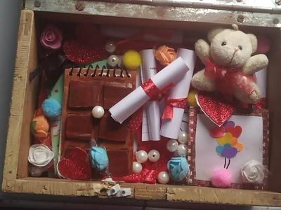 DIY valentine's Day box | valentine's Day gift idea for your boyfriend or girlfriend. box of joy