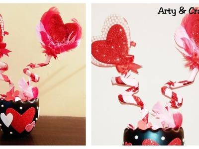 DIY Valentine's Day Gift Ideas 2019   Heart Showpiece   Valentine Day Gift Idea   Room Decor Ideas