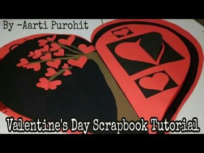 DIY Valentine's Day Scrapbook Tutorial   Heart scrapbook Tutorial   Heart Scrapbook   Love Scrapbook