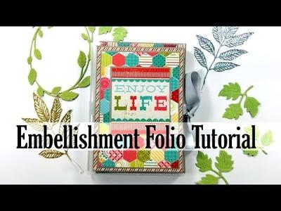 Dollar Store DIY Embellishment Folio Polly's Paper Studio Tutorial DIY How To Process