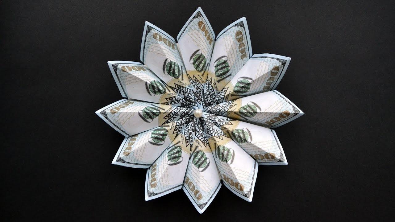 EASY | My Money FLOWER | Modular Origami Dollar Tutorial DIY (NProkuda)