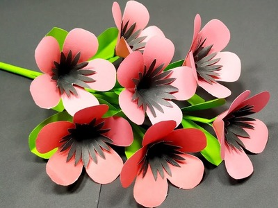 Flower: Very Easy & Beautiful Stick Flower Making Idea with Paper! DIY | Jarine's Crafty Creation