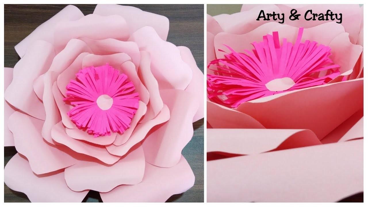 Giant Paper Flower Diy Rose Tutorial Big Paper Flower Large Size