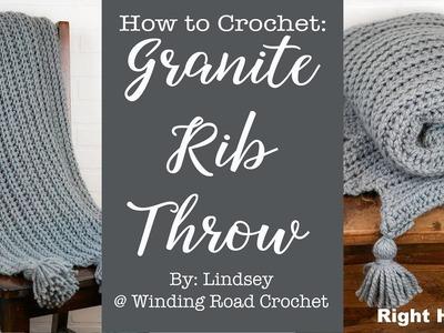 Granite Rib Throw: Right Handed: How to Crochet #crochet