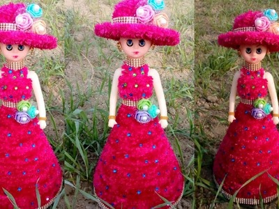 How to a doll decorate using woolen (No- 2).Doll decorations ideas