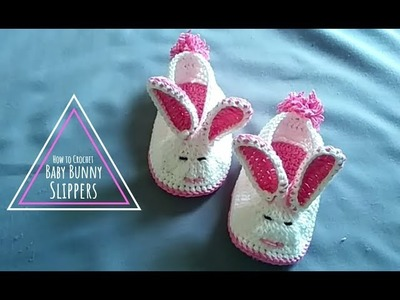 How to Crochet a Baby Bunny shoes Slippers || Baby Shoes