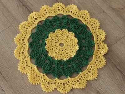 How to Crochet A Thal Posh. Thal Cover. Table Top