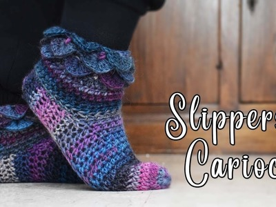 How to crochet an easy and pretty slippers